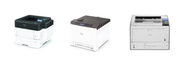 Visar bild på laserskrivare från Ricoh