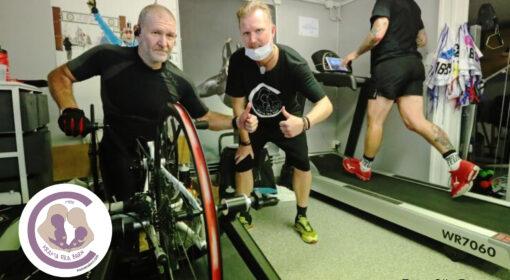 Anders Olsson cyklade 30 mil i sitt garage för Krama Era Barn och Sanfilippos