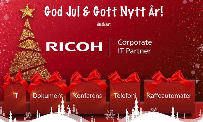 Ricoh IT Partner önskar God Jul och Gott Nytt År