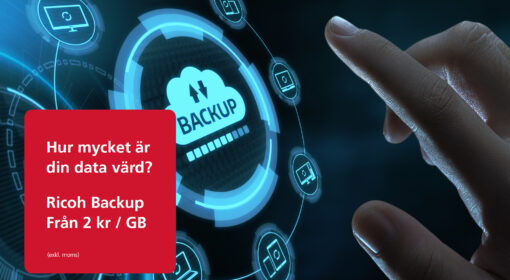 Ricoh Backup från 2 kronor per Gigabyte