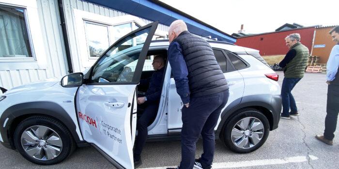Ricoh provkör Hyundai KONA Electric
